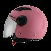 casco demi jet rosa opaco