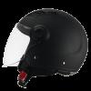 casco demi jet nero opaco