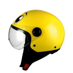 casco demi jet eyes giallo
