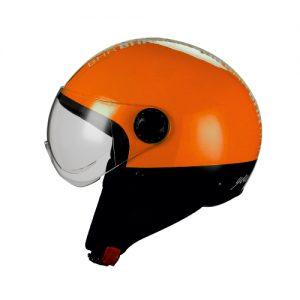 casco demi jet style arancio