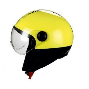 casco demi jet style giallo