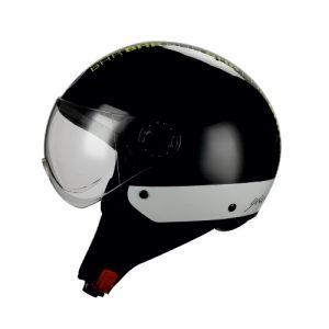 casco demi jet style nero