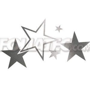 Cardesign Sticker - STARS grafite