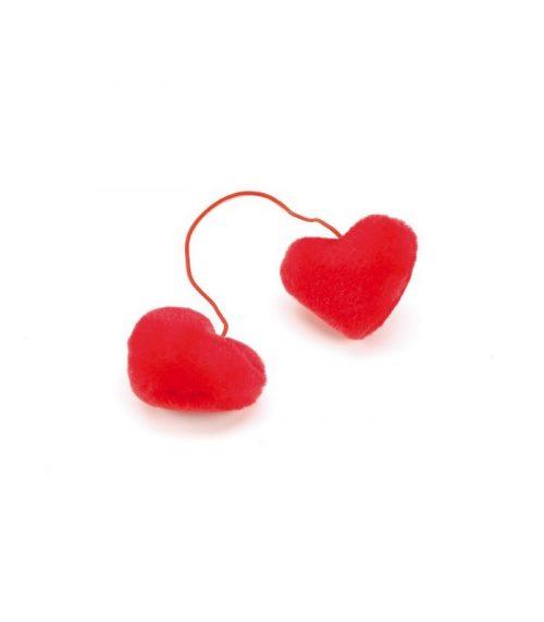 my heart peluche decorativo cuori